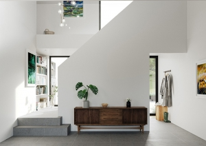 Modern stair entrance hall