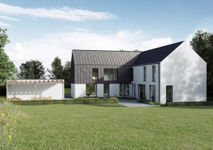 Contemporary barn house NI