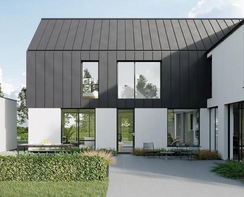 Contemporary zinc house NI