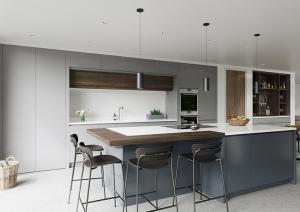 Modern kitchen in contemporary irish house Northern Ireland