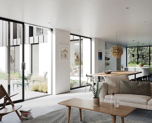 Indoor outdoor living modern Northern Ireland