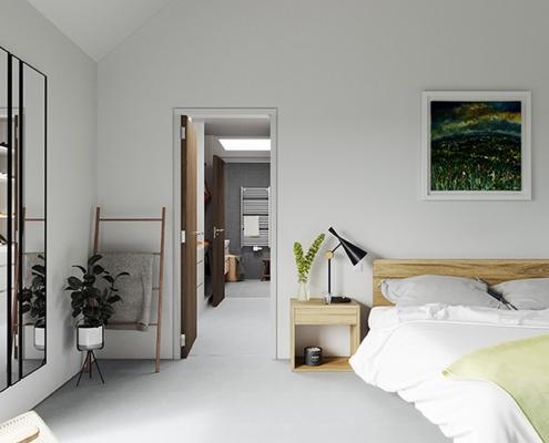Contemporary master bedroom Northern Ireland