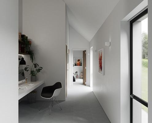 Study area in contemporary Irish house Northern Ireland