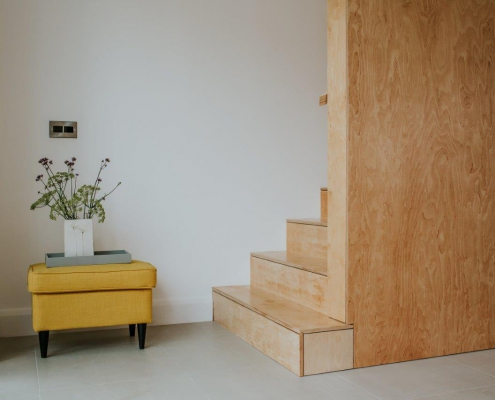 Modern plywood stairs