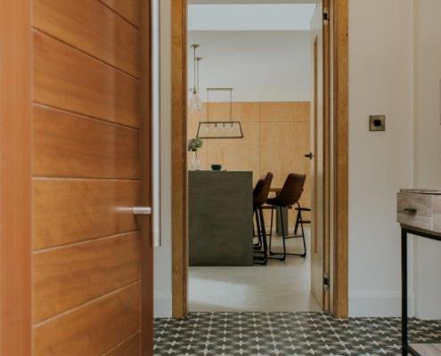Contemporary energy efficient house entrance