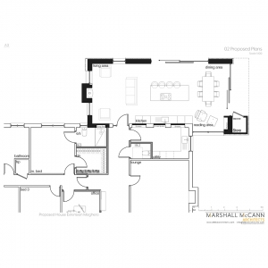 Modern extension to bungalow Northern Ireland NI Plans