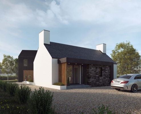 Traditional cottage with modern rear