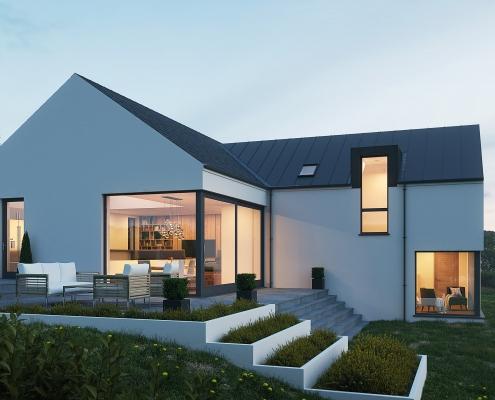 Modern split level house